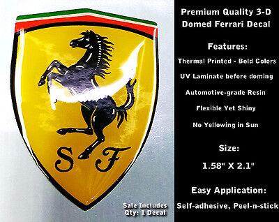 Ferrari Domed Decal 3-D Emblem Car Badge Sticker UV Laminate Non Yellowing 0132