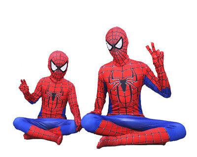 Jungen Herren Kostüm Overall Spiderman Superhelden Cosplay Karneval - Jungen Super Helden Kostüm