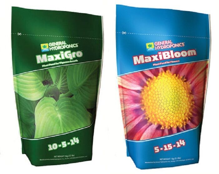 Details about General Hydroponics MaxiGro & MaxiBloom COMBO 2 2lbs EACH GH  Nutrient BAY HYDRO