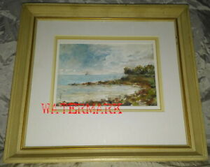 CANADIAN IMPRESSIONISTIC OIL PAINTING COBOURG LIGHTHOUSE SIGNED