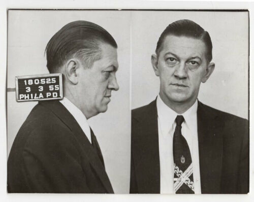 "Alfred ""Sassy Doc"" Manuszak - Largest Philly Bookmaker - 1955 Philly PD Mugshot"