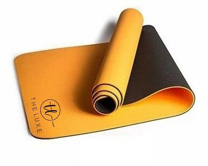 Yoga Mat, 6MM Thick, Workout for Home Gym or Home. Color: Yellow