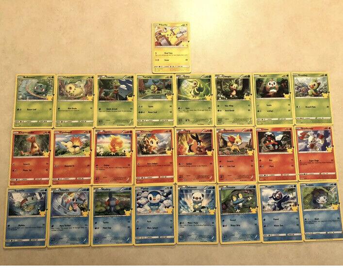New! Full Set 25 POKEMON CARDS~McDonalds 2021 Promo Non Holo 25th Anniversary 🔥