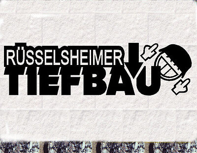 Rüsselsheimer Tiefbau Aufkleber  OPC Tuning Sticker Opel tief breit hart