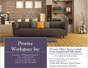 Your Co-working Office space rentals