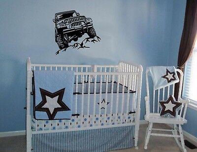 Truck Kids Decor (JEEP OFF ROAD 4 WHEELER TRUCK DECAL WALL VINYL DECOR STICKER ROOM BOYS)