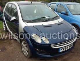 BREAKING SMART FORFOUR PASSION CDI 95 MANUAL 2004 54REG DIESEL 1.5 MANUAL