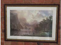 Sierra Nevada framed print by Albert Bierstadt