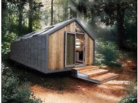 Glamping pods modern style