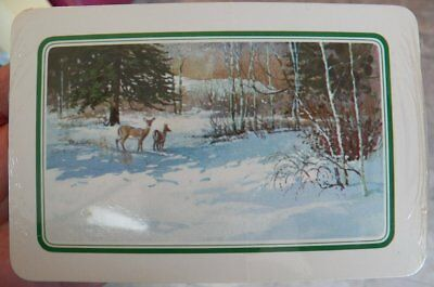 Vintage Hallmark Christmas Postcards NEW Sealed~Deer/Snow/Winter Lot of 20