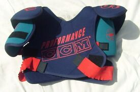 Matching set of CCM Ice Hockey Body Armour, Elbow Guards and Knee and Shin Guards.