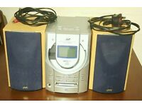 JVC AND SANYO COMPACT DISC WITH INBUILT MINI DISC