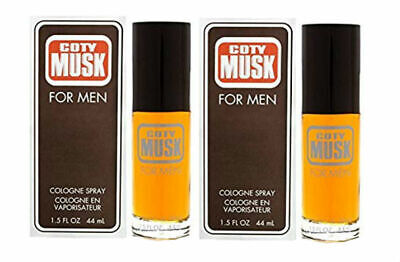 Coty Musk for Men by Coty Cologne Spray 1.5 oz New in Box - Pack of 2 Musk Men Cologne