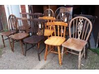 Mixed Solid Pine Oak or Beech Country Kitchen Dining Chairs
