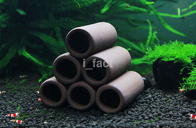 FUN Fish Shrimp Spawn Breeding Hiding Cave Shelter Tube Tank Aquarium Decor CA