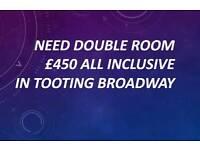 Need double room