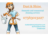 Domestic and Commercial Cleaning Services in Cheltenham area.