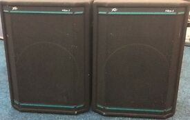 Music gear P.A. Peavey HYSIS ll Speakers, stands, and Studiomaster mixer. great condition.