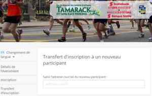 inscription au demi 1/2 marathon de Ottawa 26 mai