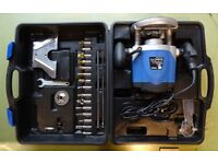 "PBX ½"" variable speed plunge router 240V 1500W never used all plus accessories in original box"