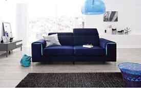 Delivery 1-3 days GENOVA Modern Sofa Couch Brand New Never Unpacked Unique Design We Can Delivered