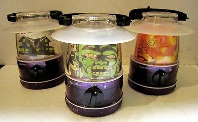 AWESOME HALLOWEEN SET OF 3 MINI PORTABLE LANTERN LIGHTS - NEW! - TRICK-OR-TREAT! - Awesome Halloween Treats