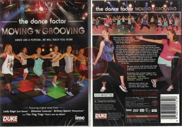 Moving 'N' Grooving - The Dance Factor NEW DVD * learn pop star dancing moves