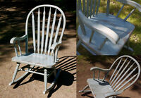 Refurbished solid wood rocking chair