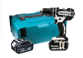 Makita cordless batterie drill driver c/w 2 batteries and charger