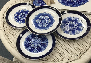 SET OF FOUR BOMBAY SIDE PLATES