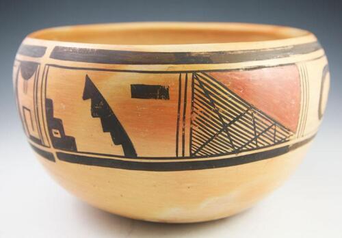 """C. 1940 Hopi Polychrome Bowl, 11"""" X 6"""""""
