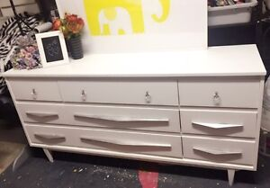 """GORGEOUS white Dresser with 9 drawers-63.5""""x30.5""""x17.5"""""""
