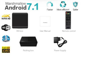 Android TV Box IPTV WiFi Quad 4K UHD Hindi Filipino Arab Spanish