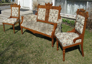 3 Piece Antique Love Seat and Chairs