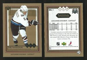 RARE LIMITED ALEXANDER OVECHKIN CAPITALS UD THE NATIONAL VIP RC
