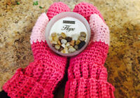 Hand-made mittens - Branded by YKnot (can be customized)