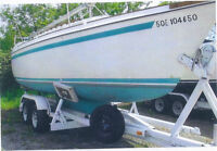 O'Day 25 Keel-Centerboard with Trailer