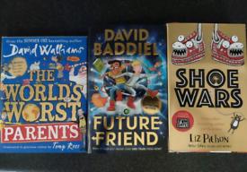 3 x hard back books as new. David Walliams, Liz Pichon, David Baddiel.