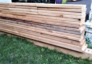 Cedar 4X4 post and boards