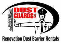 RENOVATION DUST BARRIER RENTALS ( professional setup included )