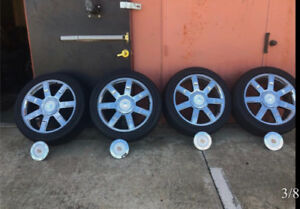 """Cadillac OEM 22"""" mags and tire in exc condition"""