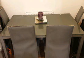 Grey Table & chairs