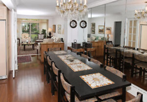 Oak Dining Room Table Set with 8 Chairs from Deboers