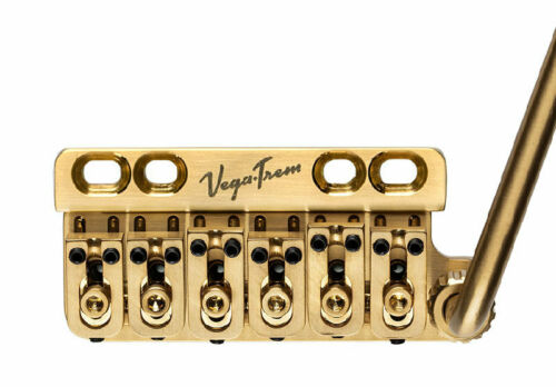 Vega-Trem Ultratrem Std Gold Bridge For Retro Fitting 6 Point Bridges~Brand New