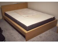 IKEA MALM double bed frame and HÖVÅG mattress