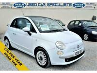 2008 08 FIAT 500 1.2 8V LOUNGE 3D 69 BHP * BABY BLUE * IDEAL FIRST CAR *