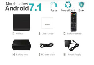 Android 7 TV IPTV 4K HD Box ★N WiFi ★16GB ★GREEK INDIAN FILIPINO