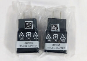 2 Pack Samsung Black OEM Adaptive Fast Rapid Wall Charger