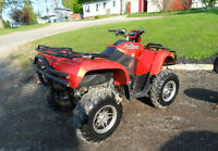 2008 Artic Cat 500cc 4 x 4 with plow