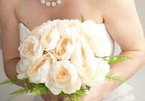 6 wedding artificial flower bouquets